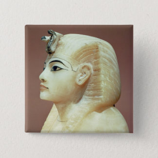 Stopper from one of the canopic urns 15 cm square badge