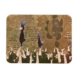 Stopping the footsteps 2012 rectangular photo magnet