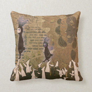 Stopping the footsteps 2012 throw pillow