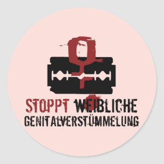 Stoppt weibliche Genitalverstümmelung! Round Sticker