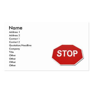 StopSign051409shadows, Name, Address 1, Address... Business Card