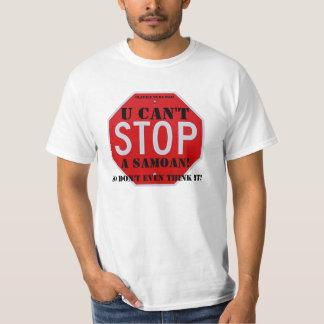 StopSign - small, U Can't, A Samoan!, Ulavale t... T Shirts