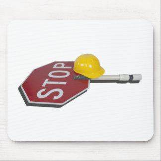StopSignPoleConstructionHat051913.png Mouse Pad