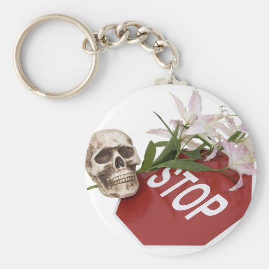 StopSignSafety051409 Basic Round Button Key Ring
