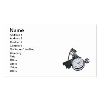 Stopwatch Treadmill Business Card Template