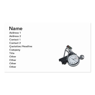 Stopwatch Treadmill Pack Of Standard Business Cards