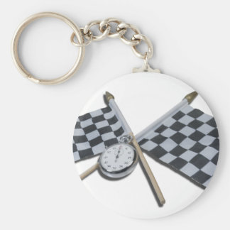 StopwatchCheckeredFlags111112 copy.png Basic Round Button Key Ring