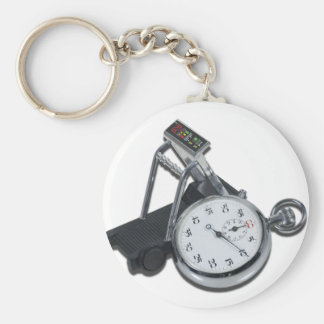 StopwatchTreadmill111112 copy.png Basic Round Button Key Ring