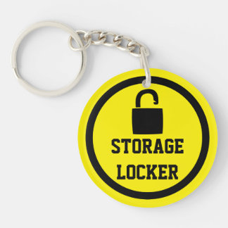 Storage Lock Easy To Locate Double-Sided Round Acrylic Key Ring