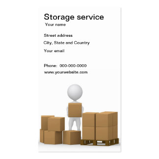 Storage service business card