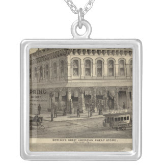 Store, brewery, San Jose Silver Plated Necklace