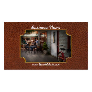 Storefront - Frenchtown, NJ - At a quaint Bistro Pack Of Standard Business Cards