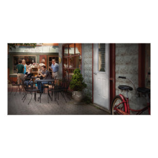 Storefront - Frenchtown, NJ - At a quaint Bistro Custom Photo Card