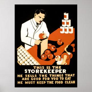 STOREKEEPER W P A POSTER c. 1937