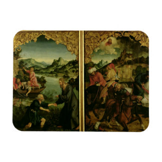 Stories of S.S. Peter and Paul altarpiece: detail Rectangular Photo Magnet