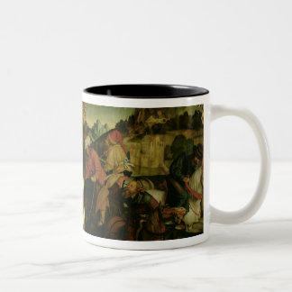 Stories of S.S. Peter and Paul altarpiece: detail Two-Tone Coffee Mug