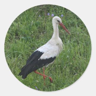 Stork 1 classic round sticker