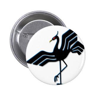 Stork 6 Cm Round Badge
