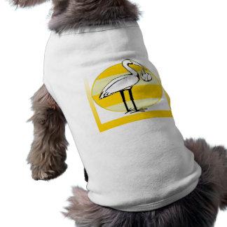 Stork and Baby Bundle Sleeveless Dog Shirt