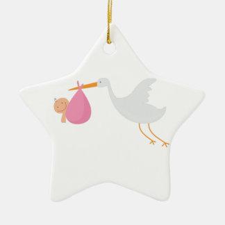 Stork Arrival Christmas Ornament