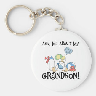 Stork Ask About Grandson Key Chain