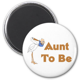 Stork Aunt To Be 6 Cm Round Magnet