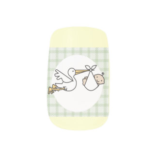 Stork Baby Delivery Minx ® Nail Art