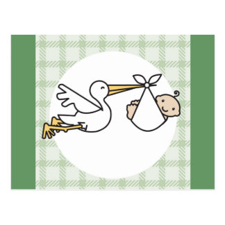 Stork Baby Delivery Postcard