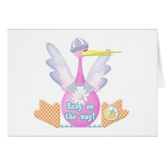 Stork Baby on the Way Greeting Card