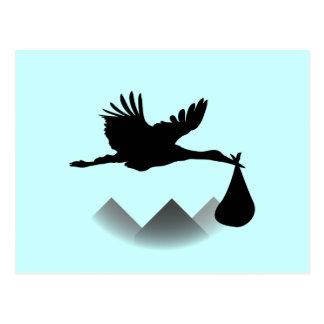 Stork & Baby Postcard