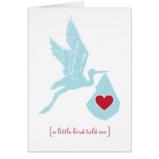 Stork Baby Shower Boys Blue Cards