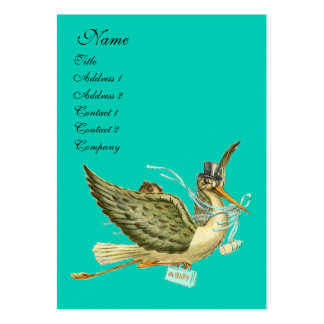 STORK BABY SHOWER BUSINESS CARD TEMPLATES