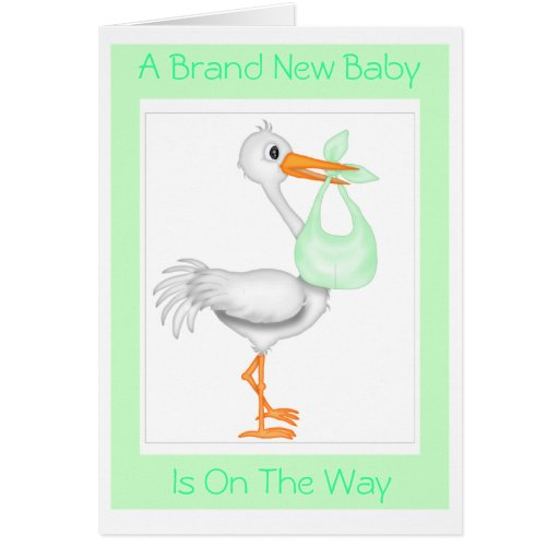 stork baby shower card unisex zazzle