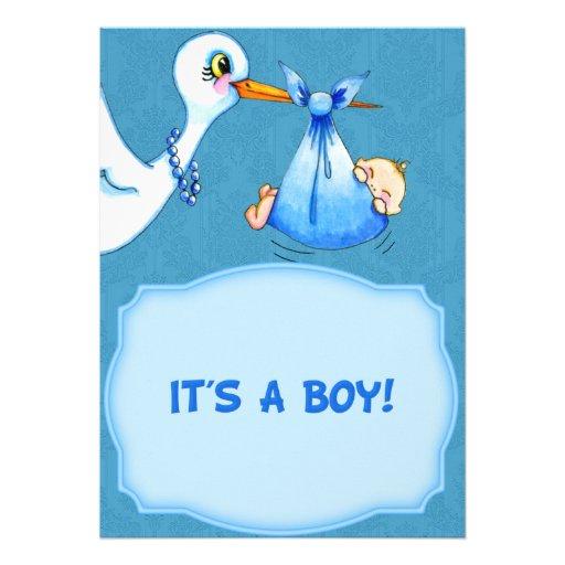 stork baby shower invitation 13 cm x 18 cm invitation card zazzle