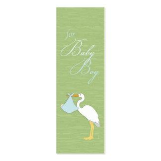 Stork Boy Skinny Gift Tag Pack Of Skinny Business Cards