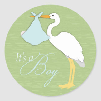 Stork Boy Sticker