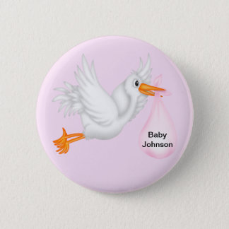 Stork Buttons For Girls