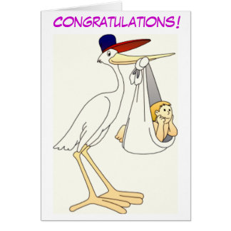 Stork Delivery Baby Card