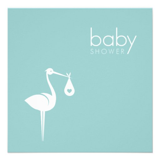 stork delivery boy blue baby shower invitation zazzle