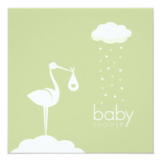 Stork Delivery Neutral Baby Shower invitation