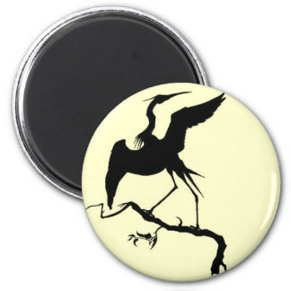 Stork Design 6 Cm Round Magnet