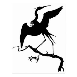 Stork Design Postcard