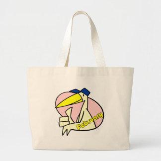 Stork February Due Date Tote Bag