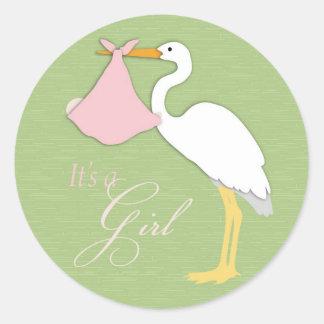 Stork Girl Sticker