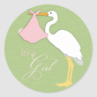 Stork Girl Sticker