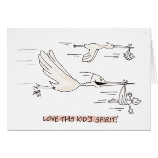 Stork (Greeting Card) Card