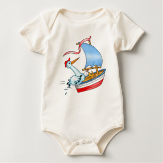 Stork in Sailing Boat - Kid's T-shirt