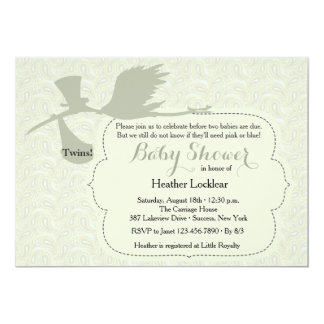 Stork is on the Way Baby Shower Invitation