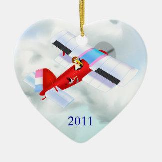 Stork Plane Ornament