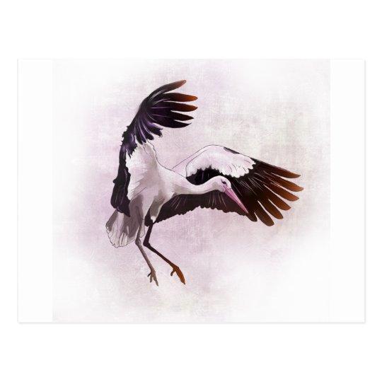 Stork Postcard